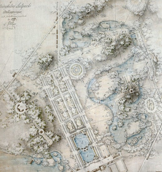 Drottningholms_park_generalplan_Piper_1797