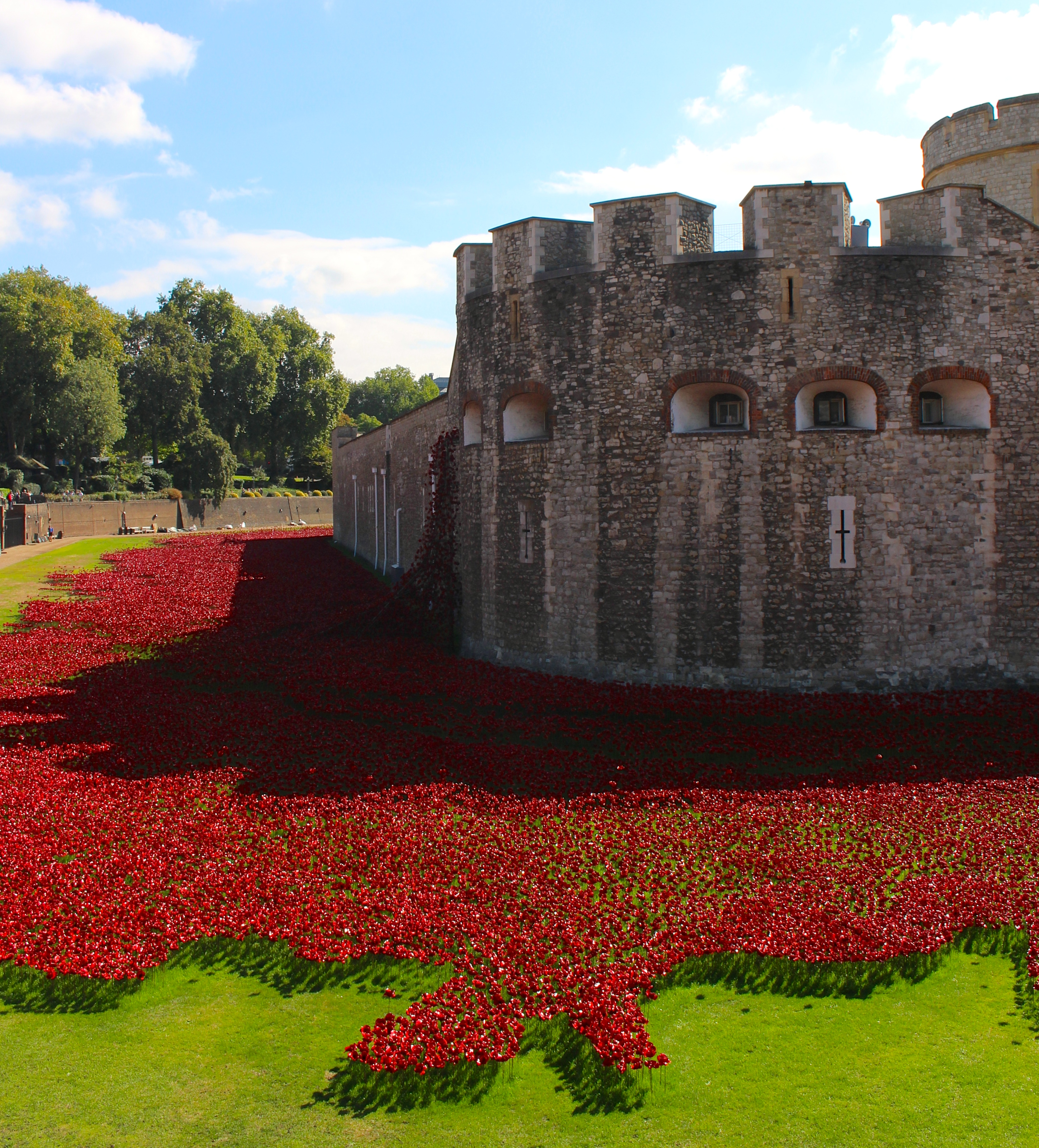 Tower of london remembers the first world war landscape eschewing formality the poppies are not arranged in orderly rows but instead undulate forming a sea of red within the moat they encase portions of the buycottarizona Images