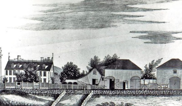 1 1828 A drawing of The Adams Seat in Quincy by Mrs. George Whitney