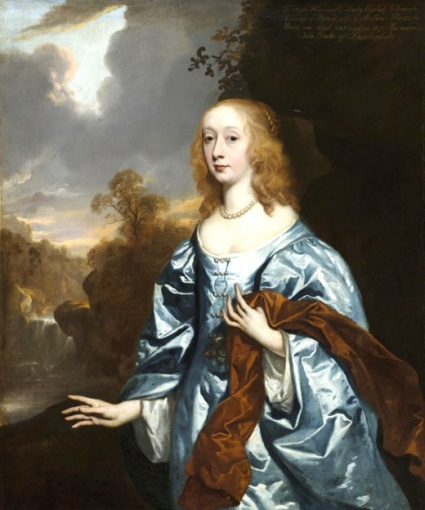 ELIZABETH MURRAY, COUNTESS OF DYSART, DUCHESS OF LAUDERDALE, IN HER YOUTH (1626-98) by Sir Peter Lely (1618-80), painting in the Duchess's Bedchamber at Ham House, Richmond-upon-Thames. ©National Trust Images/John Hammond