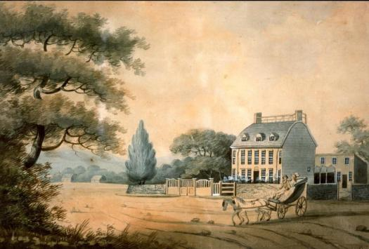 Watercolr of the Old House by E. Malcom, 1798-large