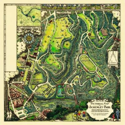 schenley-park-vintage-map