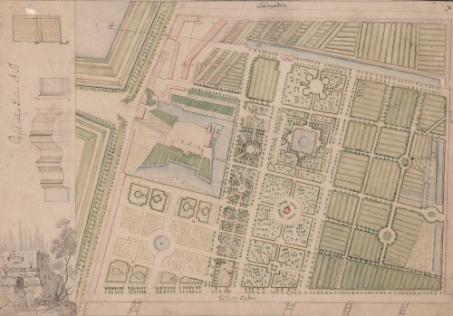 København, Rosenborg og Kongens have %22Plan over Rosenborg Hauge opmaalt Aar 1784 af de kongelige Landcadeter og tegnet af C. Hauch%22