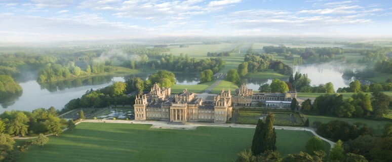 Blenheim Palace-Park and gardens-South Lawn-Aerial (2). Credit Blenheim Palace