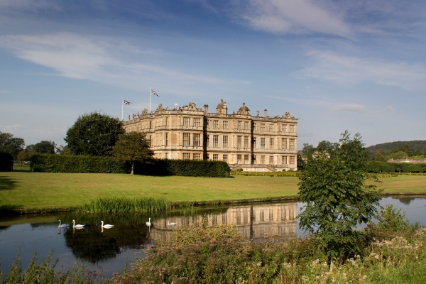 The historic Longleat House set in parkland landscaped by Capability Brown in the 18th century.